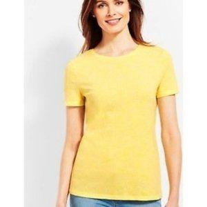 Talbots Tee Yellow 100% Pima Cotton T-Shirt   XL